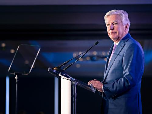 President Marty Meehan at the 2019 State of the University