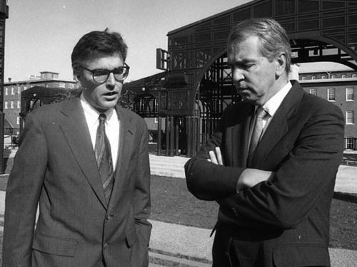 U.S. Rep. Marty Meehan and late U.S. Senator Paul Tsongas