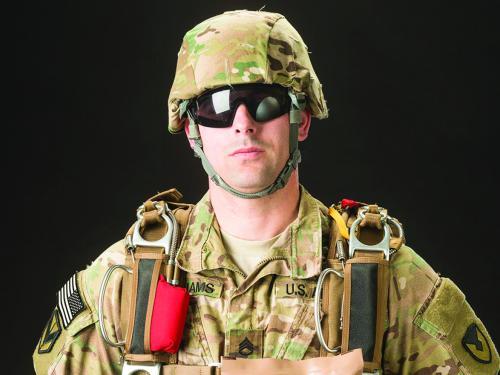 Soldier in full gear
