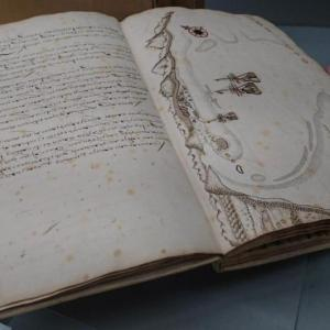 A whaling logbook from the 1600s.