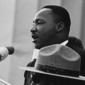 Martin Luther King Jr. delivering his 'I Have a Dream' speech on Aug. 28, 1963.
