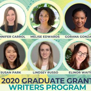 Winners of 2020 Graduate Grant Writers Program