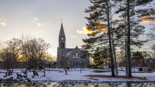 Winter at UMass Amherst