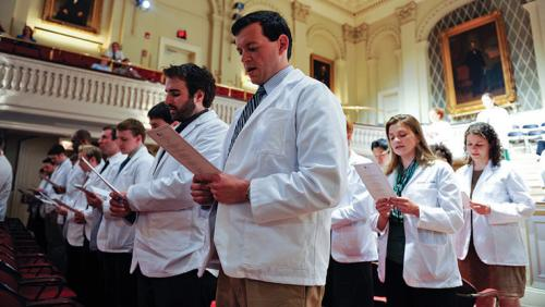 Oath ceremony at UMass Medical School