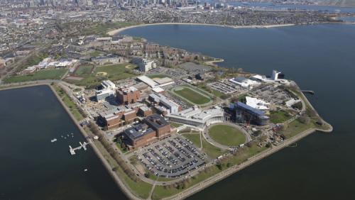 Aerial view of UMass Boston