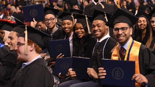 Graduates at UMass Boston's Commencement ceremonies