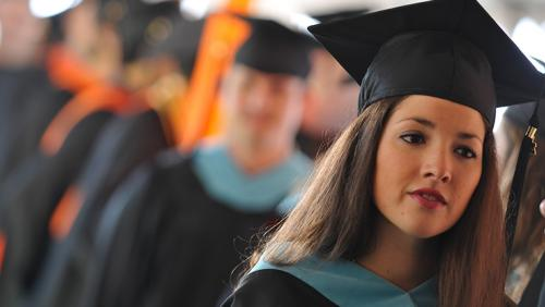 Students at UMass Lowell commencement