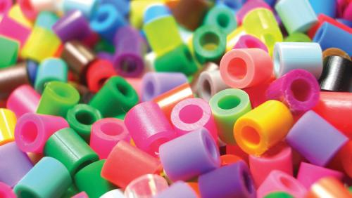 Pile of small plastic beads