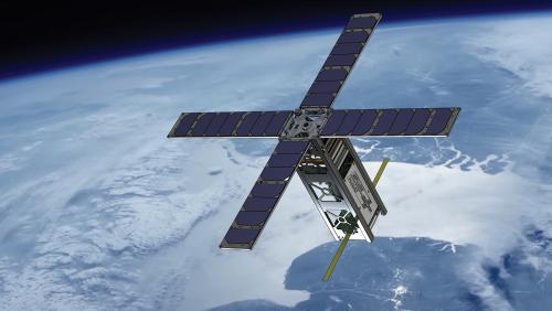 HAUC student satellite in Earth orbit